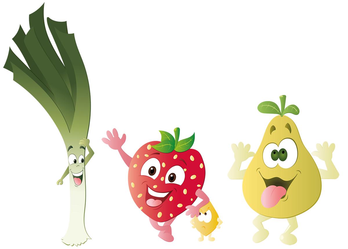 Illustration vectorielle fruit et légume