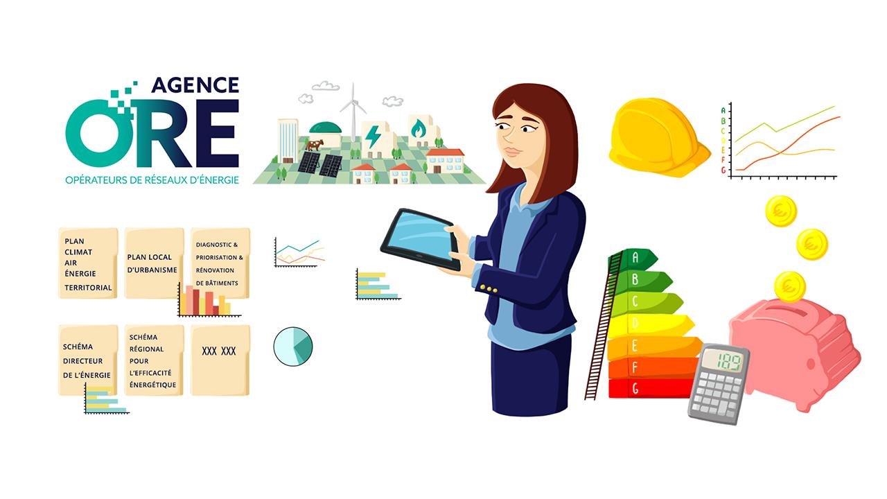 Illustration animation pub vidéo