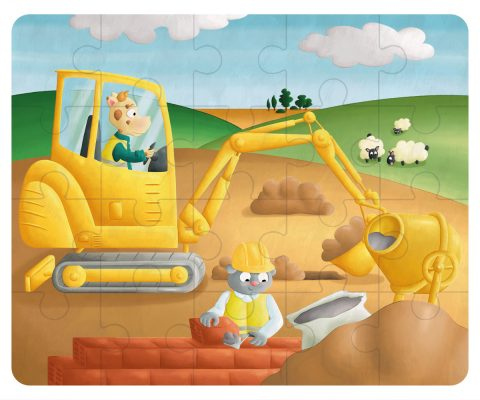 Illustration puzzle - le chantier