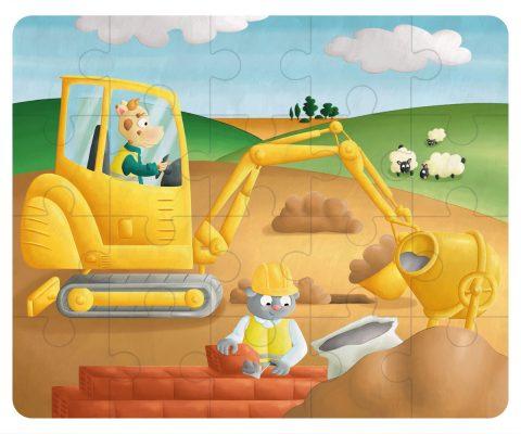 Illustration puzzle - le chantier